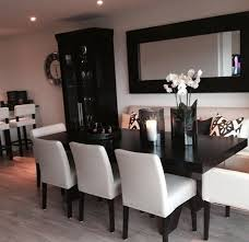 dining room table with bench seat leather seats a must for kids long mirror turned horizontal add designed curtains for our windows