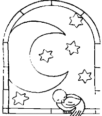 dibujos de good night colouring pages