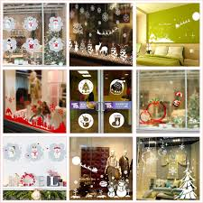 Cute Snowman Animals Merry Christmas Wall Stickers For Shop Office