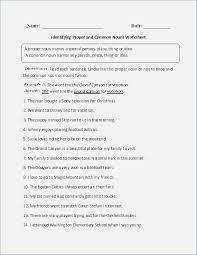 Proper and Common Nouns Worksheet – careless.me