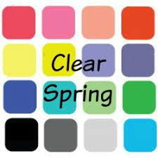 Color Me Beautiful Spring Color Chart So What Is A Clear Spring
