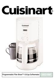 It was still brewing, after 6 or 7 years, but cup holder platform broke. Cuisinart Filter Brew Dcc 1000 Instructions Manual Pdf Download Manualslib