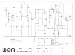 wem westminster mk 9 schematic return to wem amplifier schematics page