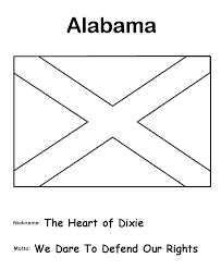 Alabama Symbols Coloring Pages Alabama State Flag Coloring Page