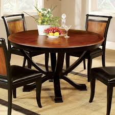 Furniture Of America Salida I Two Tone Round Dining Table Rooms