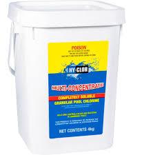 Hy Clor Test Chart Hy Clor Multi Concentrate Granular Pool Chlorine 4kg