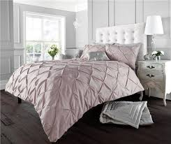 white pink black duvet sets diamond pintuck matt cotton finish quilt cover sets