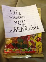 my boyfriend loves these gummy bears so this would be a cute little gift for him more more
