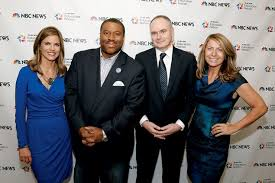 under british tv executive deborah turness far right who was hired to turn around a struggling nbc news meet the press tried booking celebrities