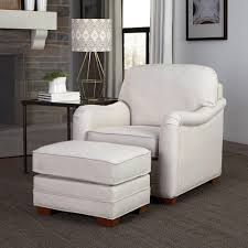 home styles heather off white arm chair with ottoman