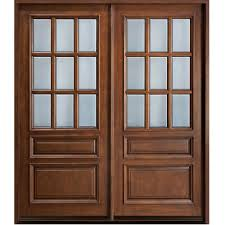 glass wooden double door hpd478 glass panel doors al