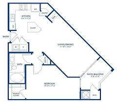 Blueprint Of Linwood Floor Plan, 1 Bedroom And 1 Bathroom At Camden College  Park Apartments