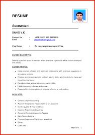 Fresh Accountant Cv Format Pdf Wing Scuisine