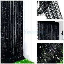 bead window curtains string curtain with sequin spangle fringe door panel divider black perfect for my