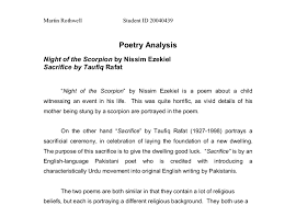 Poetry Analysis Template High School Poetry Analysis