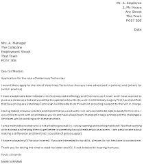 Gallery Of Veterinary Technician Cover Letter Example Vet Tech