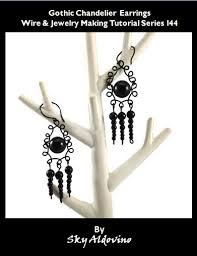 gothic chandelier earrings wire jewelry making tutorial l44