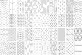 Line Pattern Simple 48 Seamless Geometric Line Patterns