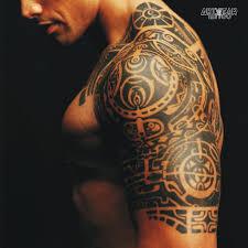 Tatuaggi Temporanei 2 Pieces The Rock Maori Spalla Busto
