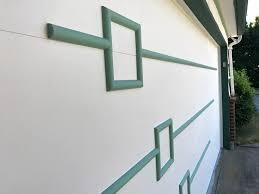 modern garage doorA midcentury modern garage door  made new for Nanette  Retro
