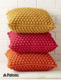 Crochet Decoration Patterns Bobble Licious Pillows Crochet Yarnspirations Patons