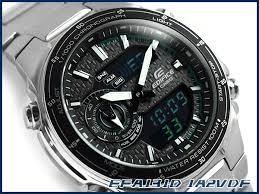 g supply rakuten global market unreleased casio unreleased casio overseas model edifice an analog digital chronograph men s watch grey carbon