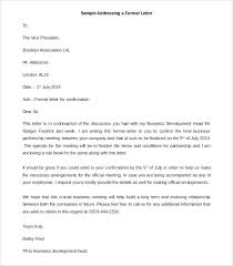 a formel letter 31 best formal letter template free sample example format free