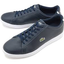 lacoste lacoste leather sneakers shoes carnaby evo bl 1 カーナビーエヴォネイビー msm002