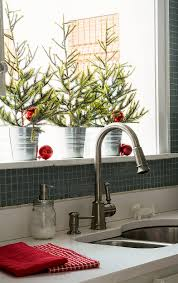 Kitchens Decorated For Christmas Top 40 Holiday Decoration Ideas For Kitchen Christmas Celebrations