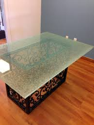 broken glass decor cracked table top a cutting edge for tops online  decorations