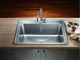 large single bowl kitchen sink