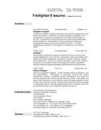 Firefighter Resume Template Pdf Format E Database Org
