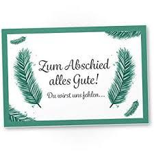 Zum Abschied Alles Gute Kunststoff Schild Abschiedskarte