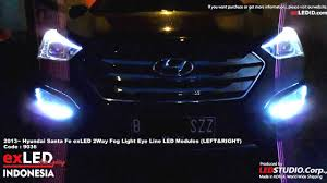 2013 Santa Fe Fog Light Replacement 2013 Hyundai Santa Fe Exled 2way Fog Light Eye Line Led
