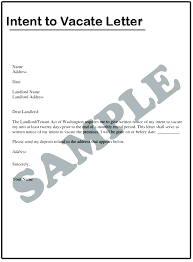 Notice To Vacate Letter Sample Eviction Notice Document Preview Letter To Landlord Vacate