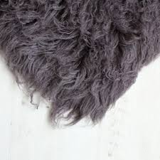earth grey 5ft flokati rug