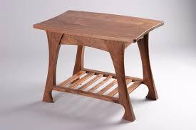 casa grande end table  black walnut sculpted wood  seth rolland