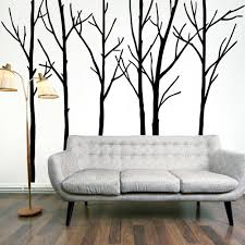 extra large black tree branches wall art mural decor sticker transfer living room bedroom background wall decal poster graphic 288 x 200cm extra large black  on wall art tree images with extra large black tree branches wall art mural decor sticker