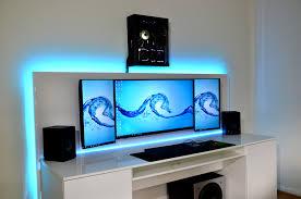 revamped gaming setup with diy desk