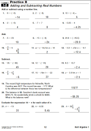 solutions holt algebra 1 lesson 1 2 practice b worksheet