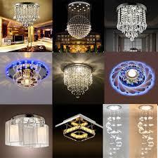 modern huge led crystal ceiling light pendant lamp fixture chandelier home decor