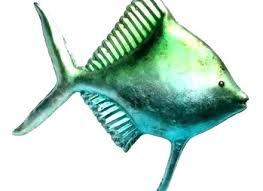 outdoor metal fish art metal fish wall art school of fish metal wall