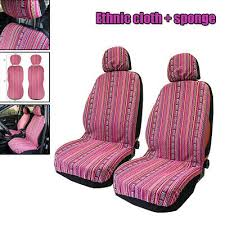 4x universal car seat covers front head