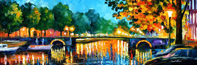 painting canvas ideasAMSTERDAM  EARLY MORNING  PALETTE KNIFE Oil Painting On Canvas