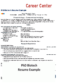 Biotech Resume Examples Resume Cv And Guides Student Affairs
