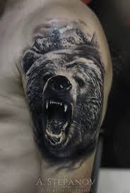 картинки медведя оскал