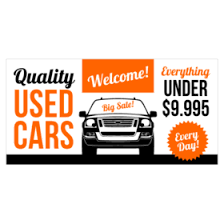 Car Sale Signs Used Car Dealer Vinyl Banners