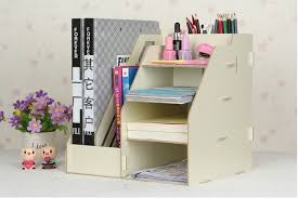 high office desk. High Quality Creative Candy Color Office Desk Organizer Wood Cabinet DIY Desktop Wooden Storage Box To