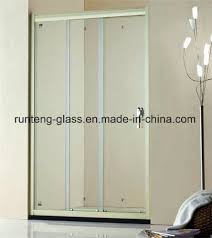 china 4 19mm silkscreen print frosting acid etch pattern and clear safety glass for bathroom shower cabin door screen enclosure in hotel and home with