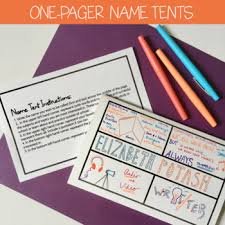 name tent first day name tent one pagers by spark creativity tpt
